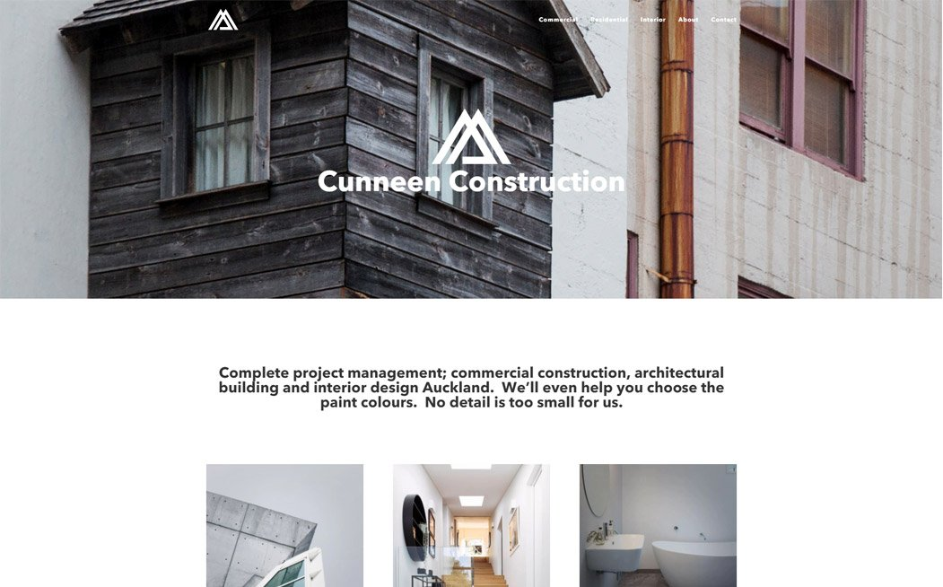 Cunneen Construction Website